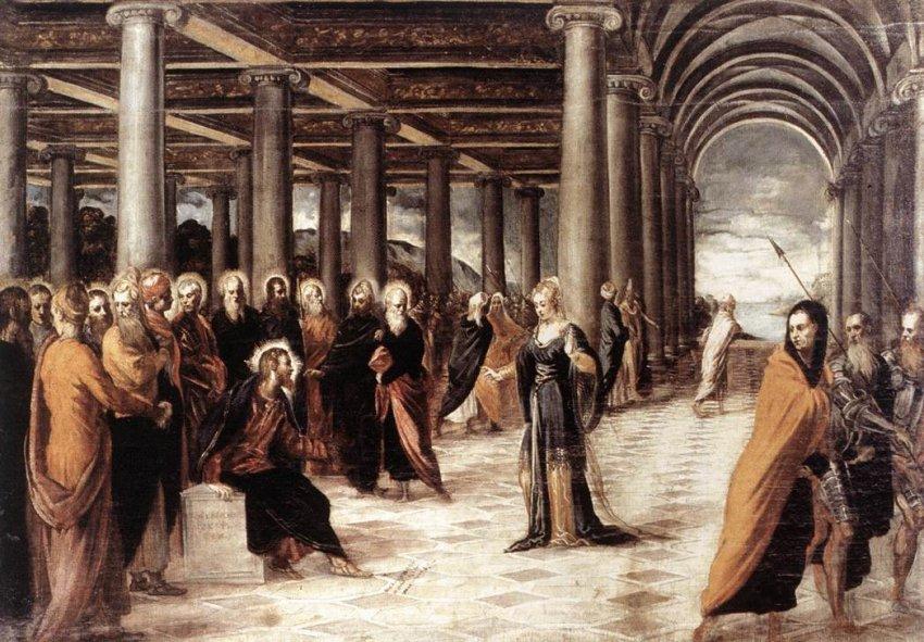 Tintoretto -Cristo e l' Adultera -1550