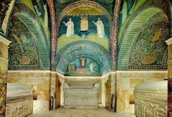 Interno del mausoleo di Galla Placidia